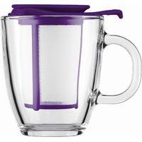 BODUM Yo Yo Mug & Tea Strainer Set - Purple, Purple