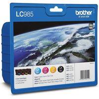 BROTHER LC985VALBP Cyan, Magenta, Yellow & Black Ink Cartridges - Multipack, Cyan