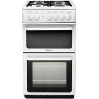HOTPOINT HAG51P Gas Cooker - White, White