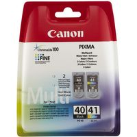 CANON PG-40/CL-41 Black & Colour Ink Cartridge - Multipack, Black