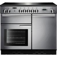 RANGEMASTER Professional 100 Electric Induction Range Cooker - Stainless Steel & Chrome, Stainless Steel