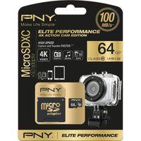 PNY Elite Performance Class 10 microSD Memory Card - 64 GB