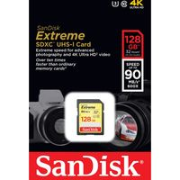SANDISK Extreme Class 10 SDXC Memory Card - 128 GB