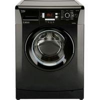 BEKO WMB714422B Washing Machine - Black, Black