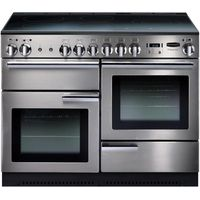 RANGEMASTER Professional 110 Electric Range Cooker - Stainless Steel & Chrome, Stainless Steel
