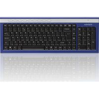 ADVENT AKBWLBL15 Wireless Keyboard - Blue & Silver, Blue