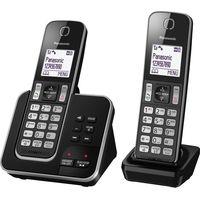 PANASONIC KX-TGD322EB Cordless Phone with Answering Machine - Twin Handsets