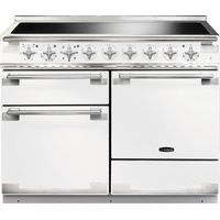 RANGEMASTER Elise 110 Electric Induction Range Cooker - White & Chrome, White