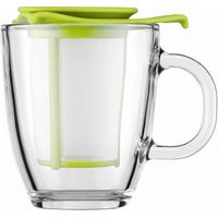 BODUM Yo Yo Mug & Tea Strainer Set - Lime, Lime