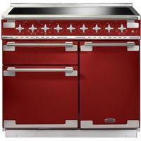 RANGEMASTER Elise 100 Electric Induction Range Cooker - Red & Chrome, Red