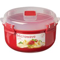 SISTEMA Round 915 ml Microwave Box - Red, Red