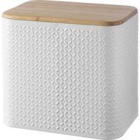 TYPHOON Imprima Diamond Rectangular Bread Bin - White, White
