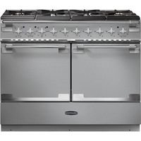 RANGEMASTER Elise SE 110 Dual Fuel Range Cooker - Stainless Steel & Chrome, Stainless Steel