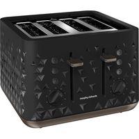 MORPHY RICHARDS Prism 248101 4-Slice Toaster Black, Black