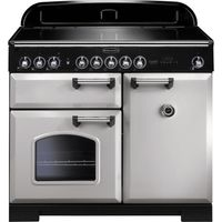 RANGEMASTER Classic Deluxe 100 Electric Induction Range Cooker - Royal Pearl & Chrome