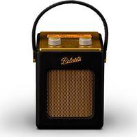 ROBERTS Revival Mini Portable DAB Radio - Black & Gold, Black