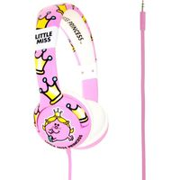 MR MEN Little Miss Princess Kids Headphones - Pink, Pink