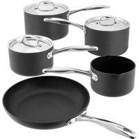 STELLAR 6000 5-piece Non-stick Pan Set - Grey, Grey