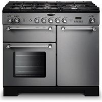 RANGEMASTER Kitchener 100 Dual Fuel Range Cooker - Stainless Steel & Chrome, Stainless Steel