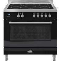 BRITANNIA Q Line 90 Single Electric Induction Range Cooker - Black, Black