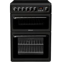 HOTPOINT HAE60KS Electric Ceramic Cooker - Black, Black