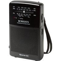 ROBERTS Sports925 3-Band Portable Analogue Radio - Black, Black