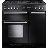 RANGEMASTER Toledo 90 Gas Range Cooker - Black & Satin, Black