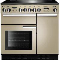 RANGEMASTER Professional 90 Electric Ceramic Range Cooker - Cream & Chrome, Cream