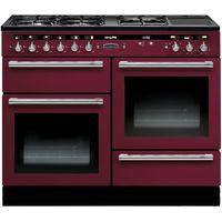 RANGEMASTER Hi-Lite 110 Dual Fuel Range Cooker - Cranberry & Chrome, Cranberry