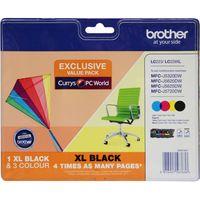 BROTHER LC229XLDSVALBPRF Tri-colour & Black Ink Cartridges - Multipack, Black