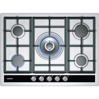 SIEMENS iQ500 EC745RC90E Gas Hob - Stainless Steel, Stainless Steel