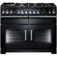 RANGEMASTER Excel 110 Dual Fuel Range Cooker - Black & Chrome, Black