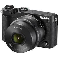NIKON 1 J5 Compact System Camera with NIKKOR 10-30 mm f/3.5-5.6 VR Zoom Lens - Black, Black
