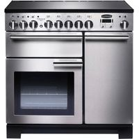 RANGEMASTER Professional Deluxe 90 Electric Induction Range Cooker - Stainless Steel & Chrome, Stainless Steel