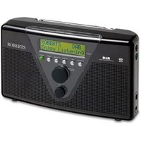 ROBERTS DuoLogic Portable DAB Radio - Black, Black