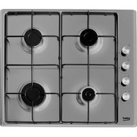 BEKO HIZG64120SX Gas Hob - Stainless Steel, Stainless Steel