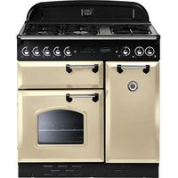 RANGEMASTER Classic 90 Gas Range Cooker - Cream & Chrome, Cream