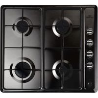 NEW WORLD NWGHU601 Gas Hob - Black, Black