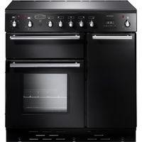 RANGEMASTER Toledo 90 Electric Induction Range Cooker - Black & Satin, Black