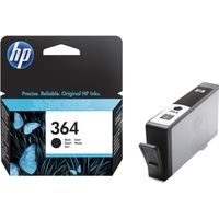 HP 364 Black Ink Cartridge, Black