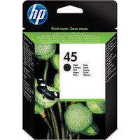 HP 45 Black Ink Cartridge, Black