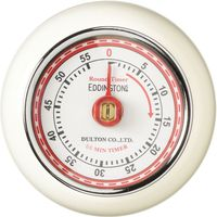 EDDINGTONS Retro Magnetic Kitchen Timer - Ivory, Ivory