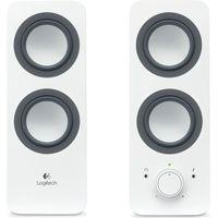 LOGITECH Z200 2.0 PC Speakers - White, White