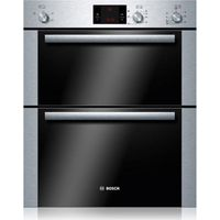 BOSCH HBN13B251B Electric Built-under Double Oven - Brushed Steel, Brushed Steel