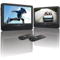 LOGIK L9DUALM13 Dual Screen Portable DVD Player - Black, Black