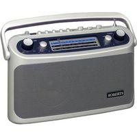 ROBERTS R9928 Portable Analogue Radio - Silver, Silver