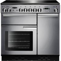 RANGEMASTER Professional 90 Electric Ceramic Range Cooker - Stainless Steel & Chrome, Stainless Steel