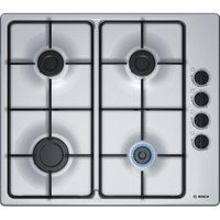 BOSCH PBP6B5B80 Gas Hob - Stainless Steel, Stainless Steel