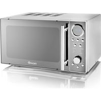 SWAN SM3080N Solo Microwave - Silver, Silver