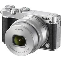 NIKON 1 J5 Compact System Camera with NIKKOR 10-30 mm f/3.5-5.6 VR Zoom Lens - Silver, Silver